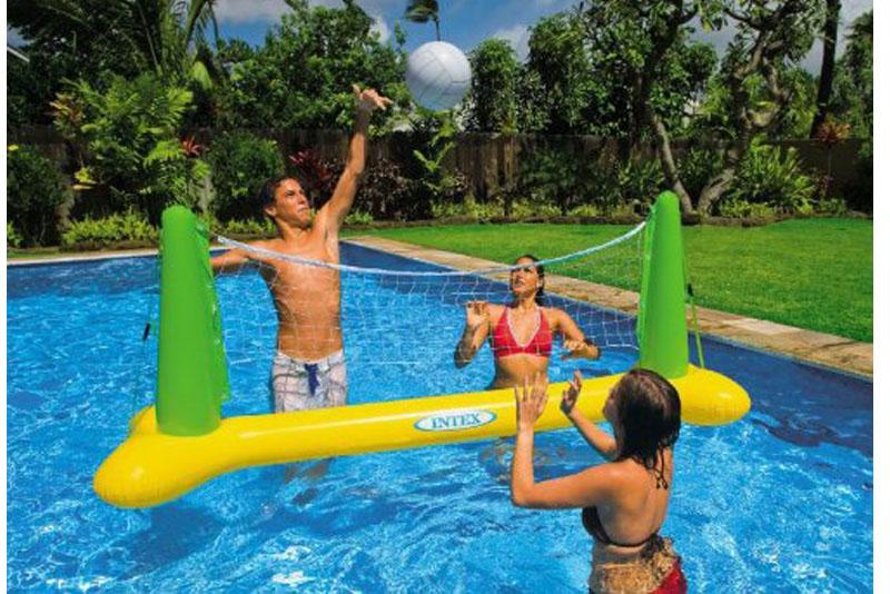 Juego inflable de voleibol flotante inflables de mayoreo for Accesorios para piscinas inflables